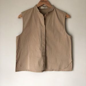 Oak + Fort | Sleeveless Cotton Button Down